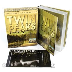 Twin Peaks Complete Series Definitive Gold Box Edition 10-Disc DVD Set Signed by David Lynch