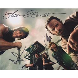 The Walking Dead Photo Signed by Andrew Lincoln, Lauren Cohan & Chandler Riggs