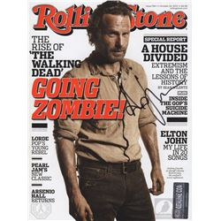 The Walking Dead Rolling Stone Magazine Signed by Andrew Lincoln