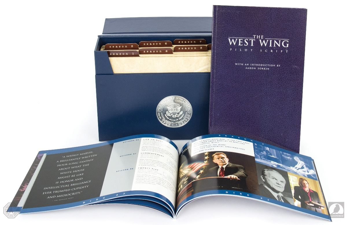 the west wing the complete series 45 disc dvd collection with signed pilot script. Black Bedroom Furniture Sets. Home Design Ideas
