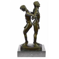 Gay Men Wrestling bronze Figurine on marble base