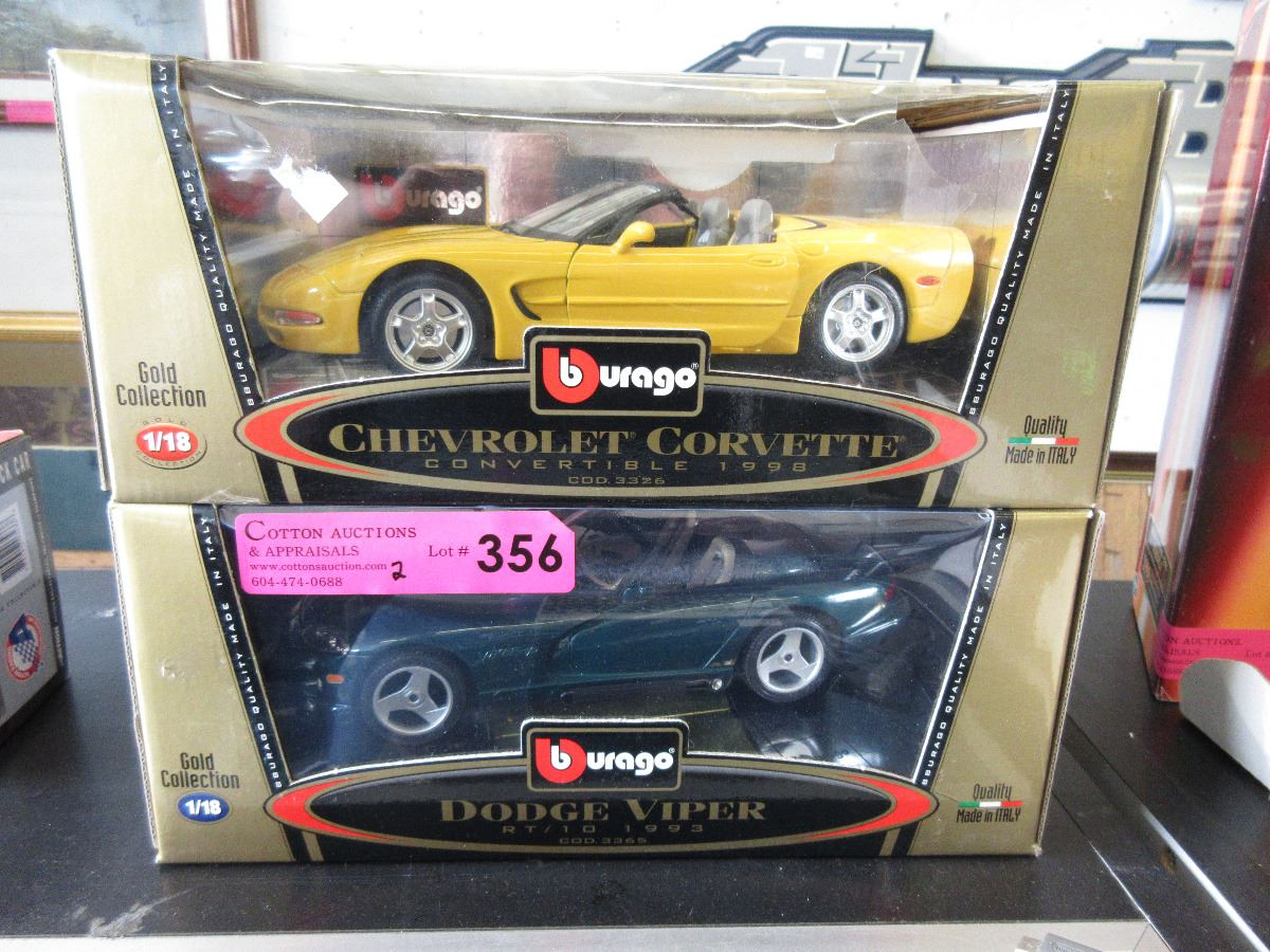 2 Brago scale model collector cars