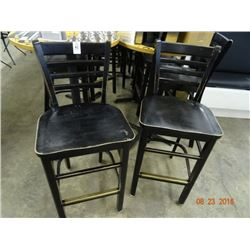 20 Black Ladderback Bar Stools - 20 Times the Money