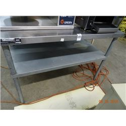 S/S 4' Table w/Undershelf