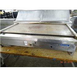 Royal Gas 4' Flat Grill - Needs Knobs