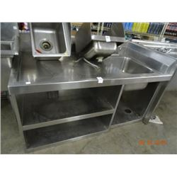 5' S/S Table w/Sink & Storage