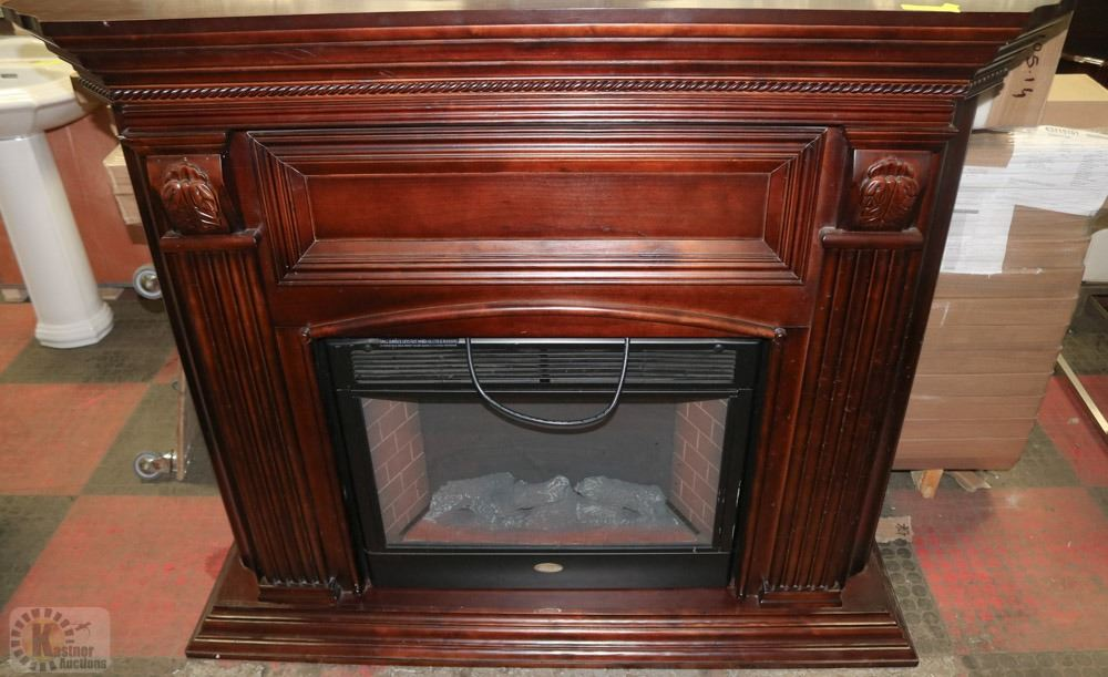 Electric Fireplace With Mantle Insert Needs Repair
