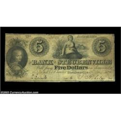 Steubenville, OH- Bank of Steubenville $5 Aug. 12, 1839 G40A scarce note. Fine-Very Fine.  Important