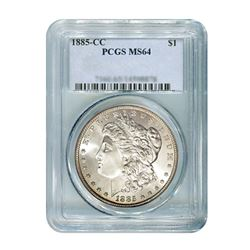 1885-CC $1 Morgan Silver Dollar - PCGS MS64