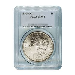 1890-CC $1 Morgan Silver Dollar - PCGS MS64