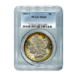 1880-S $1 Morgan Silver Dollar - PCGS MS65