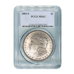 1881-S $1 Morgan Silver Dollar - PCGS MS63