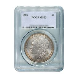 1886 $1 Morgan Silver Dollar - PCGS MS63