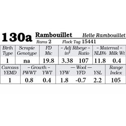 Lot 130a - Rambouillet