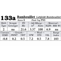 Lot 133a - Rambouillet