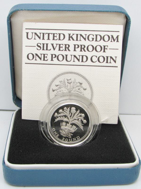 1984 United Kingdom Sterling Silver Proof 1 Pound Coin