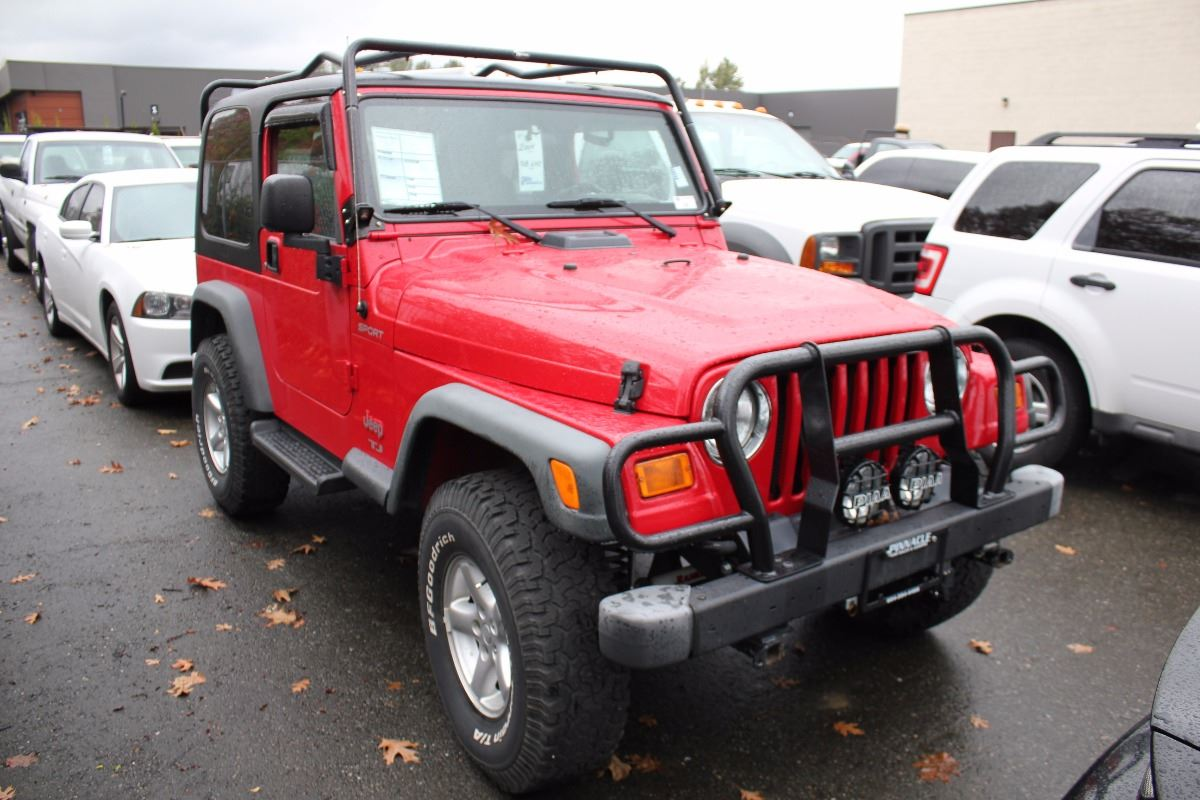 2004 jeep tj sport 2 door suv red vin 1j4fa49sx4p770362 able auctions. Black Bedroom Furniture Sets. Home Design Ideas