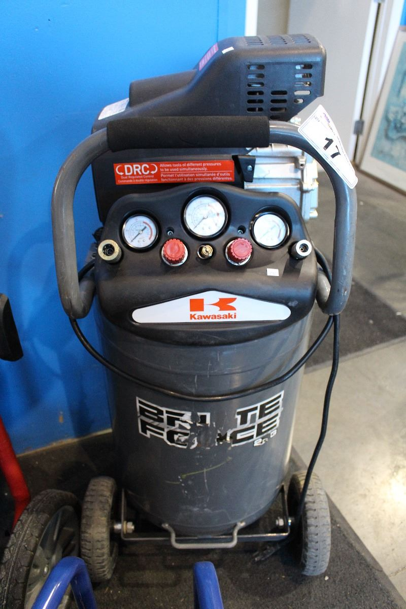 KAWASAKI 20 GALLON 2HSP ELECTRIC AIR COMPRESSOR