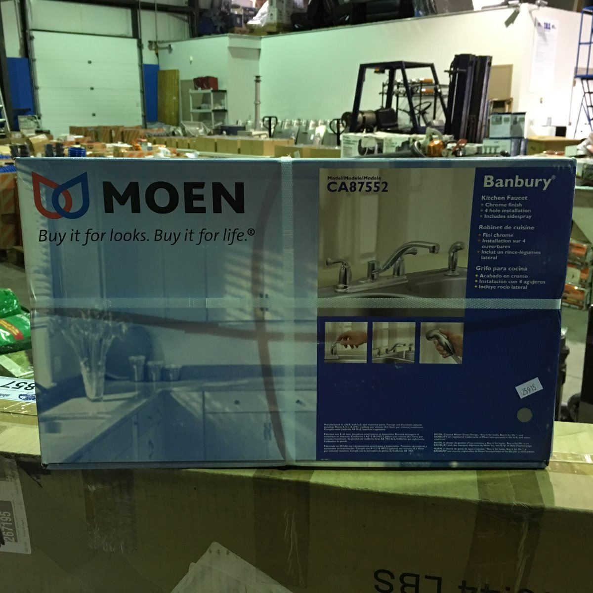 MOEN CHROME FINISH KITCHEN FAUCET