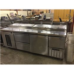 CONTINENTAL REFRIGERATOR STAINLESS STEEL MOBILE REFRIGERATED PREP STATION
