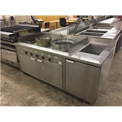 SUPREME STAINLESS STEEL DOUBLE BURNER BOILING STATION
