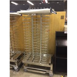 COMMERCIAL MOBILE STAINLESS STEEL PLATE RACK WITH WARMING SKIRT