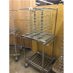 COMMERCIAL MOBILE STAINLESS STEEL PLATE HALF-RACK WITH WARMING SKIRT