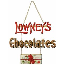 Lowney's Chocolates 3pc Chain Hanging Sign