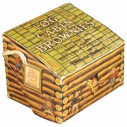 National Biscuit Co. Log Cabin Brownie Box