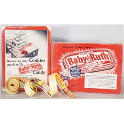 Baby Ruth Candy Boxes and Roll of Paper Tape