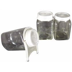 Three  Aridor Biscuit Display Jars