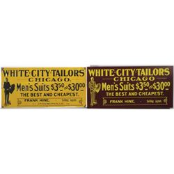 Two White City Tailors Signs