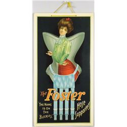 Foster Hosiery Beveled Celluloid Sign