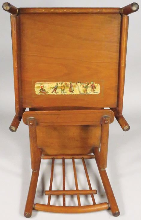 ... Image 3 : Antique Child's / Doll Convertible High Chair - Antique Child's / Doll Convertible High Chair
