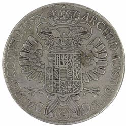 Austria (Burgau) 1765 SC Silver Thaler, about Extremely Fine