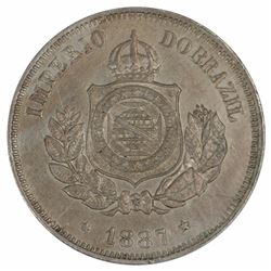 Brazil 1887 50 Reis, Toned - Choice Uncirulated
