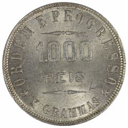 Brazil 1906 1000 Reis, Choice Uncirculated