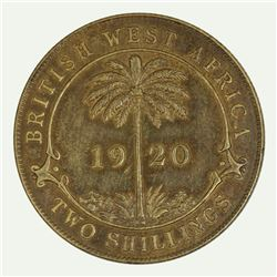 British West Africa 1920 KN 'Uniface Reverse Trial' Two Shillings, Evenly toned - Uncirculated