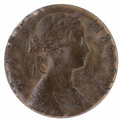 Canada (Newfoundland) Victoria One Cent 'Obverse Brockage', good Extremely Fine