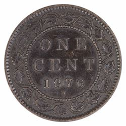 Canada 1876 H Cent, about Uncirculated