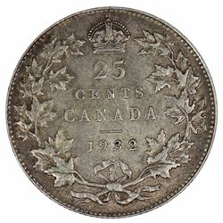 Canada 1932 25 Cents, Virtually Uncirculated
