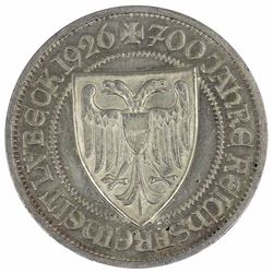 Germany 1926 A 3 Reichmark, about Uncirculated