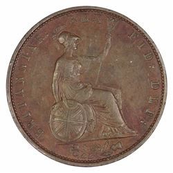Great Britain William IIII 1834 Halfpenny, about Extremely Fine