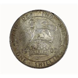 Great Britain Edward VII 1909 Shilling, Toned - about Uncirculated