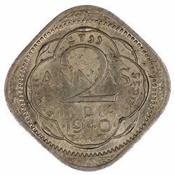 India 1940 'Bombay Mint' 2 Annas - 2nd Head, Choice Uncirculated