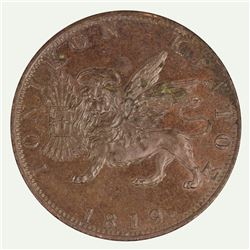 Ionian Islands George III 1819 Obol, Uncirculated with some adhesions on obverse