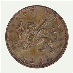 Ionian Islands Victoria 1851 Lepton, Uncirculated wih deep lustre