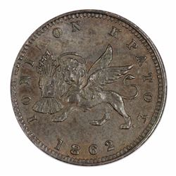 Ionian Islands (Greece) Victoria 1862 Lepton, Uncirculated with deep lustre