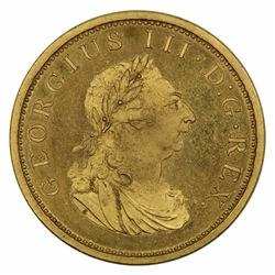 Ireland 1805 George III Copper Gilt Proof Penny, near FDC