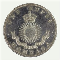 Mombassa 1888 Proof Rupee, Slightly impaired